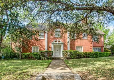 Highland Park Single Family Home For Sale: 4328 Belclaire Avenue