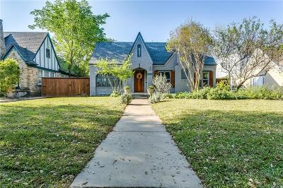 Fort Worth Single Family Home Active Option Contract: 2133 Park Place Avenue