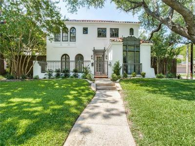 Dallas Single Family Home For Sale: 4439 Rawlins Street