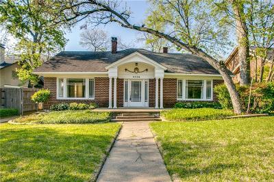 Dallas Single Family Home For Sale: 4326 Avondale Avenue