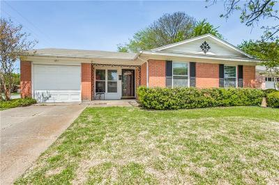 Richardson Single Family Home Active Option Contract: 601 Rorary Drive