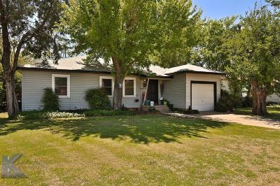 Abilene Single Family Home For Sale: 3281 S 13th Street