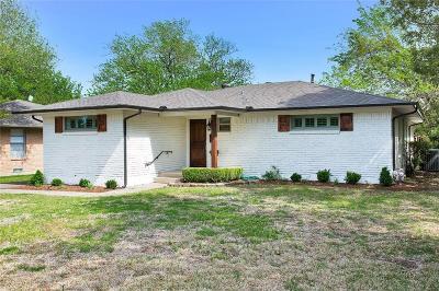 Dallas Single Family Home For Sale: 6822 Trammel Drive