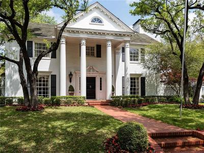 Highland Park Single Family Home For Sale: 4344 Beverly Drive