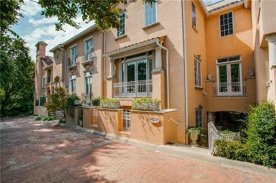 Dallas Townhouse For Sale: 3725 Turtle Creek Boulevard #E