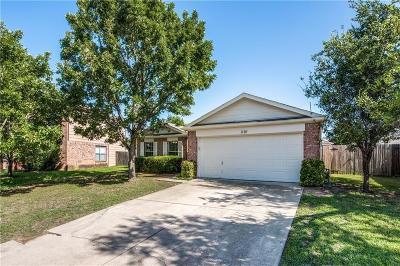 Denton Single Family Home Active Option Contract: 1120 Wintercreek Drive