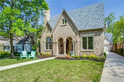 Dallas Single Family Home For Sale: 5251 Monticello Avenue