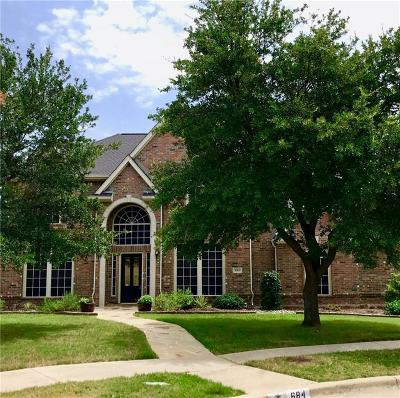 Coppell Single Family Home Active Option Contract: 684 Hollow Circle