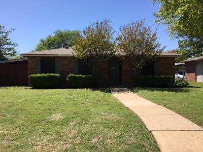 Plano Single Family Home Active Option Contract: 6529 Rainier Road