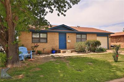 Abilene Single Family Home For Sale: 890 Presidio Drive