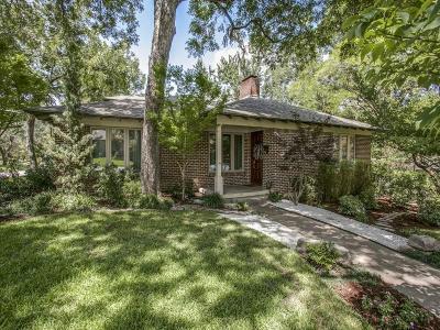 Dallas Single Family Home For Sale: 6875 Avalon Avenue