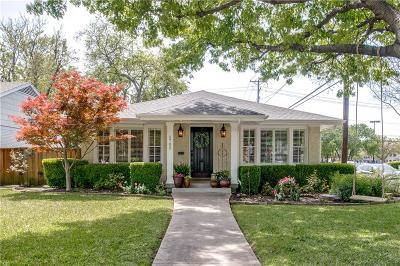 Dallas Single Family Home For Sale: 5702 W Amherst Avenue