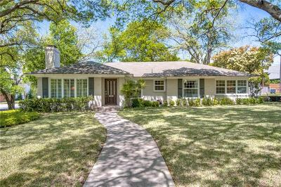 Highland Park, University Park Single Family Home For Sale: 3320 Wentwood Drive