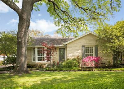 Dallas Single Family Home For Sale: 8720 Canyon Drive
