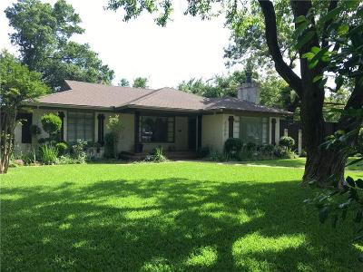 Dallas Single Family Home For Sale: 4200 Northcrest Road