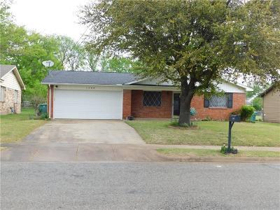 Sherman Single Family Home Active Option Contract: 1709 E Hilton Street