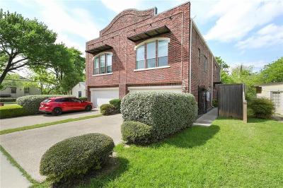 Dallas Half Duplex For Sale: 5809 Martel Avenue
