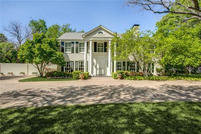 Dallas Single Family Home For Sale: 5251 Ravine Drive