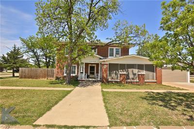 Abilene Single Family Home For Sale: 1542 N 4th Street