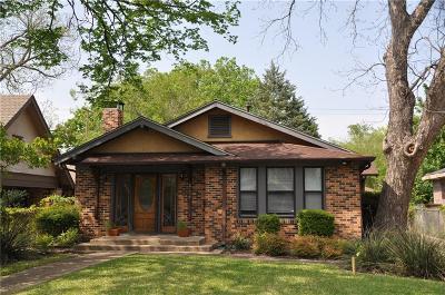 Dallas Single Family Home For Sale: 5239 Miller Avenue
