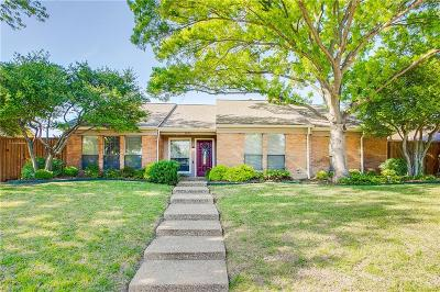 Plano Single Family Home Active Option Contract: 3825 Fall Wheat Drive