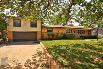 Abilene Single Family Home For Sale: 917 S Leggett Drive