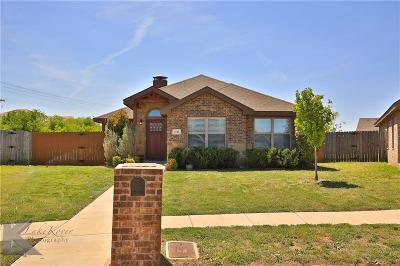 Abilene Single Family Home For Sale: 3742 Kallies Cove