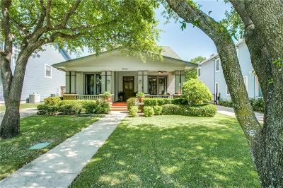 Dallas Single Family Home Active Option Contract: 4910 Reiger Avenue