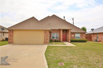 Abilene Single Family Home For Sale: 6625 Sutherland Street