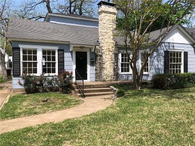 Dallas Single Family Home For Sale: 9421 Tarleton Street