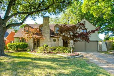 Dallas Single Family Home For Sale: 2036 Mayflower Drive