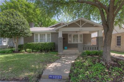 Fort Worth Single Family Home For Sale: 3229 Wabash Avenue
