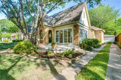 Dallas Single Family Home For Sale: 5419 Vanderbilt Avenue
