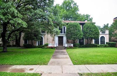 Highland Park Single Family Home For Sale: 4324 Versailles Avenue
