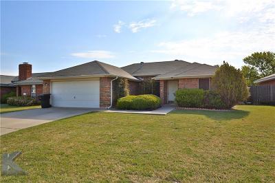 Abilene Single Family Home For Sale: 3833 Duke Lane
