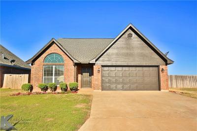 Abilene Single Family Home For Sale: 7602 Tuscany Drive