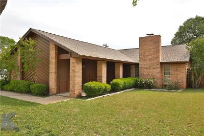 Abilene Single Family Home For Sale: 3601 Auburn Drive