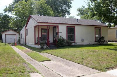 Irving Single Family Home Active Option Contract: 1102 Anita Street