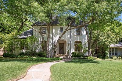 Highland Park, University Park Single Family Home For Sale: 3220 Wentwood Drive