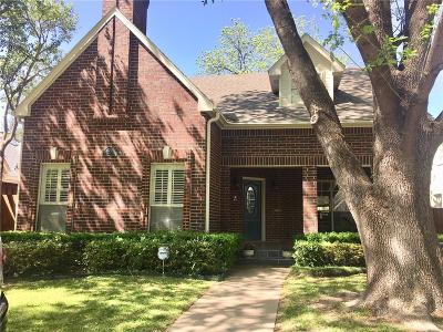 Highland Park, University Park Single Family Home Active Option Contract: 3932 Stanford Avenue