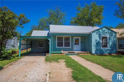 Brownwood TX Single Family Home For Sale: $77,450