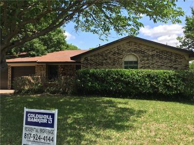 Benbrook Single Family Home Active Option Contract: 805 Keller