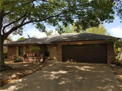 Burleson Single Family Home Active Contingent: 213 Shady Oaks Drive