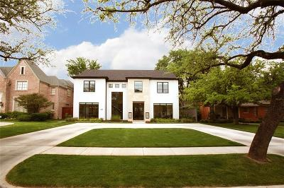 Dallas, Highland Park, University Park Single Family Home For Sale: 3828 Wentwood Drive