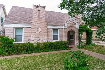 Dallas TX Single Family Home Active Contingent: $230,000