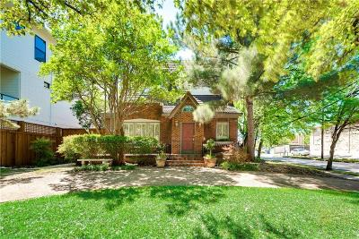 Dallas Single Family Home For Sale: 4129 Bowser Avenue