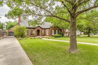 Fort Worth Single Family Home For Sale: 3914 Hamilton Avenue