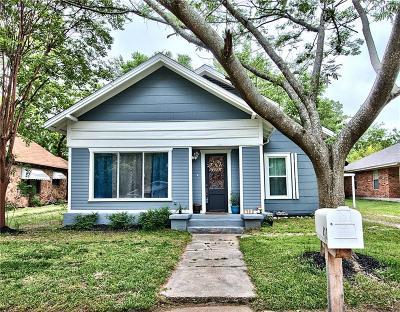 Weatherford Single Family Home Active Contingent: 413 W Bridge Street