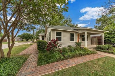 Dallas, Fort Worth Single Family Home For Sale: 4901 Birchman Avenue