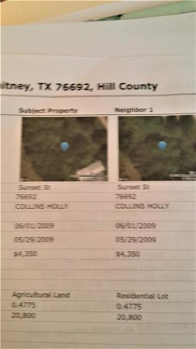 Whitney TX Residential Lots & Land For Sale: $9,500